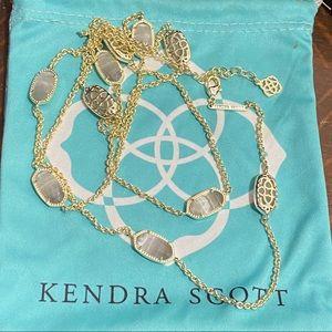 Kendra Scott gold/catseye slate Kellie necklace